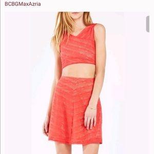 2-pc set BCBG Max Azria small skirt & crop top